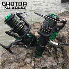 Double Brake System Fishing Reel 5.2:1 Metal Spool 4+1 Ball Bearing Carp Fishing Feeder
