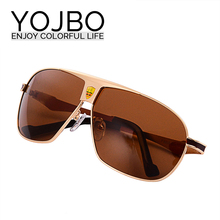 YOJBO Men Polarized Driving Sunglasses 2016 new brand Summer style Designer Male Sun Glasses UV400 Protections