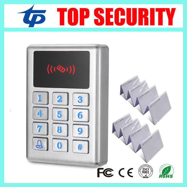 Metal access control system standalone door access controller 3000 users RFID card access control reader outdoor mf 13 56mhz weigand 26 door access control rfid card reader with two led lights
