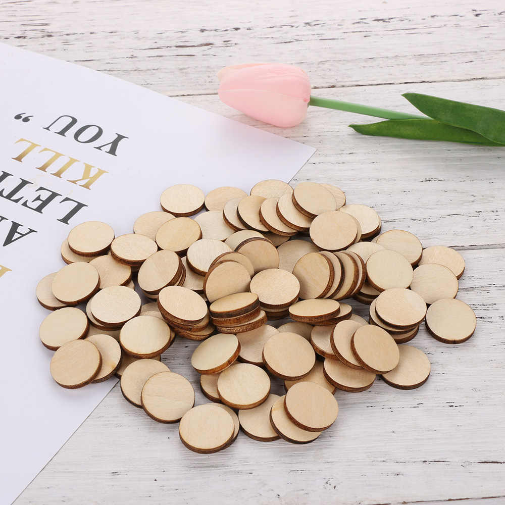 1Bag Wooden Round 10mm-50mm Circles Ring For Craft Card Making Scrapbooking Arts Wedding Decorative DIY Embellishment