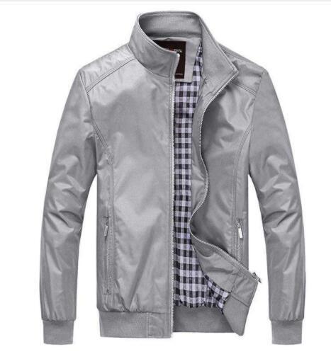 HTB1p0eBX4 rK1RkHFqDq6yJAFXaa Quality Bomber Solid Casual Jacket Men Spring Autumn Outerwear Mandarin Sportswear Mens Jackets for Male Coats M-5XL 6XL 7XL