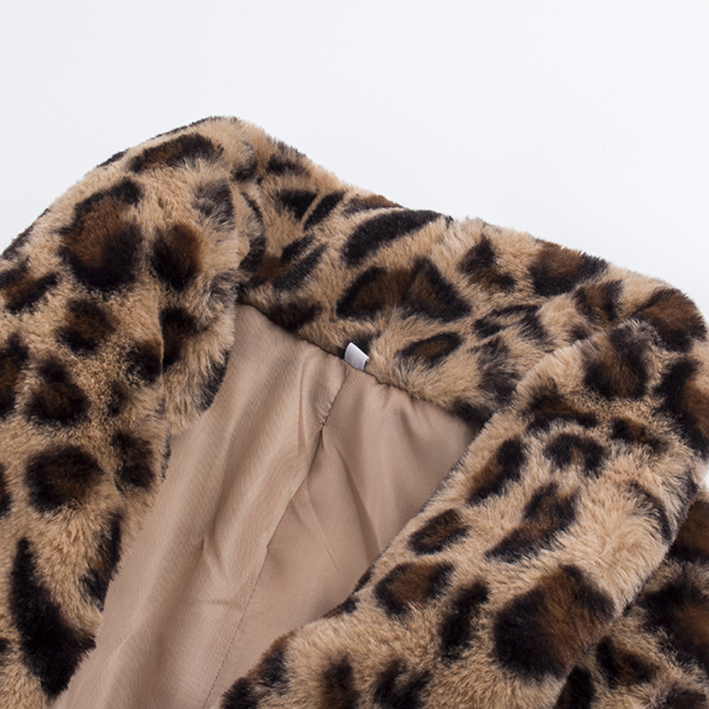 Leopard Coats 2019 New Women Faux Fur Coat Luxury Winter Warm Plush Jacket Fashion artificial fur Women's outwear High Quality