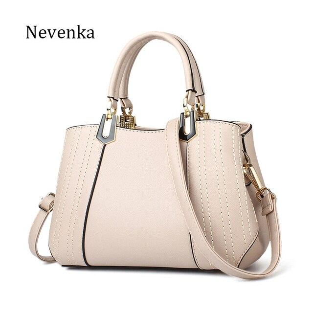 Nevenka 2018 Women Handbags Summer Leather Bags Fashion Totes Zipper  Shoulder Bags Quality Bag Lady Original Design Bags Sac c19bec3c2ace1