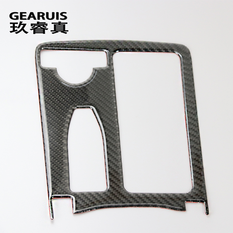 carbon fiber Car Styling For Mercedes Benz E class W212 LHD Coupe C Class W204 Interior Water Cup Holder Panel Decoration Trim стоимость