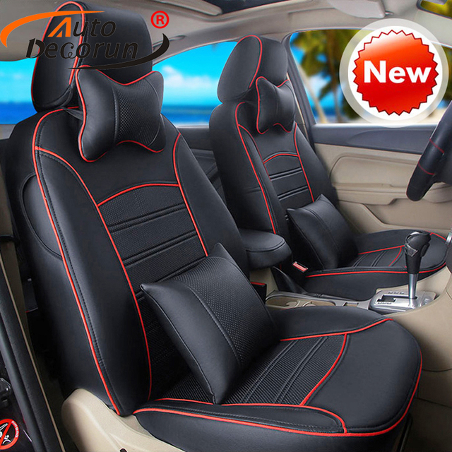 AutoDecorun 14PCS/set custom seat cushion for Hyundai Veloster accessoires seat covers PU leather seat supports covers styling