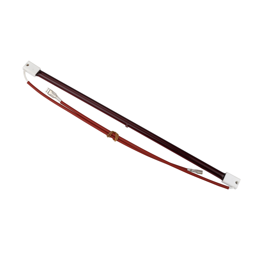 4 Pieces Of 350mm 500W 220V Ruby Color Vacuum Halogen Heat Tube With  Tungsten Wire IR Lamp Infrared Quartz  Element