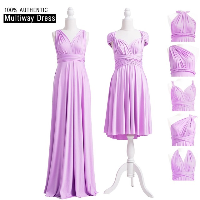 0530d45a32 Lavender Bridesmaid Dress Long Infinity Dress Multiway Dress Wrap Maxi  Floor Length Dress With Straps Cap Sleeves Styles