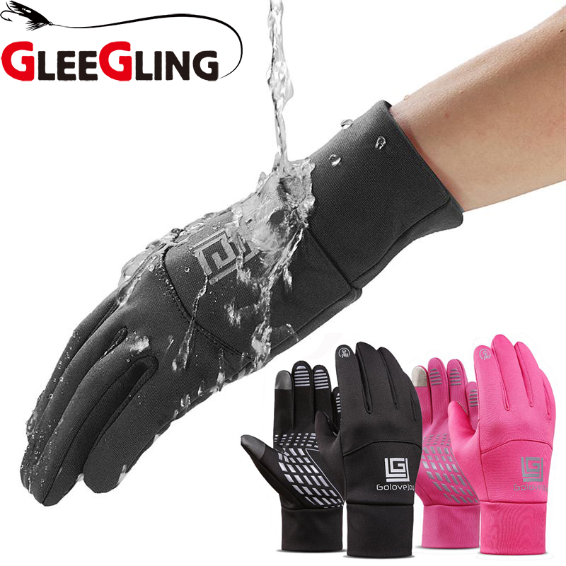 Winter Wasserdicht Angeln Handschuh Outdoor Angeln Sport Finger Schutz Guantes De Caza Handschuhe für Angeln Männer