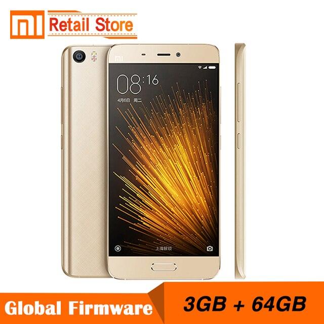 Оригинал Сяо Mi Mi5 Prime 3 ГБ ОЗУ 64 ГБ ROM мобильный телефон mi 5 Snapdragon 820 Quad Core 5.15 дюймов 3D стекло тела 16.0 Мп камера