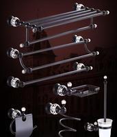 top high quality solid brass ORB finish Bathroom Accessories Set,Robe hook,Paper Holder,Towel Bar,Soap basket,bathroom sets,