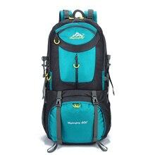 Походный рюкзак 60л походные альпинистские рюкзаки Прочный Открытый Рюкзак Спортивная Сумка рюкзак мужской водостойкий большой емкости