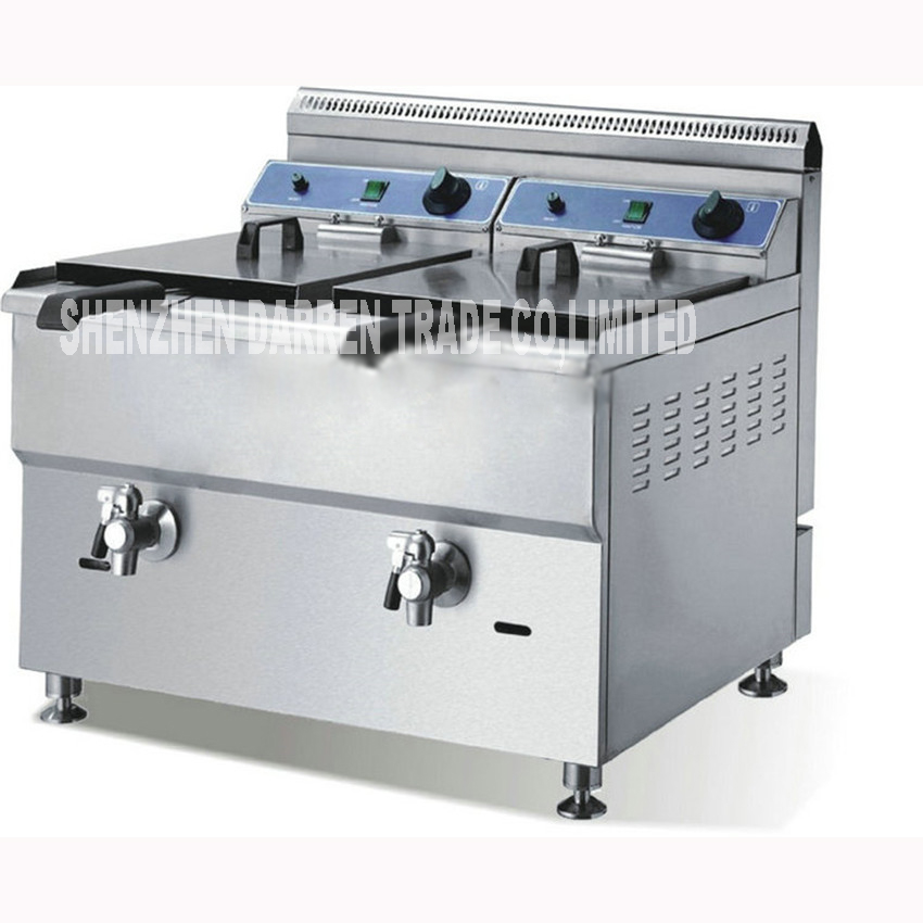 GF182 commercial stainless gas oil chicken food steel potato chip fryer ovens with gas LPG tanks 2 2 baskets Gas double cylinder цена и фото