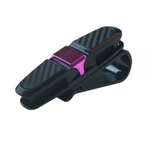Image 5 - 선글라스 홀더 자동 고정 장치 cip 안경 홀더 자동차 용품 sun visor 안경 클립 티켓 카드 안경 케이스 black