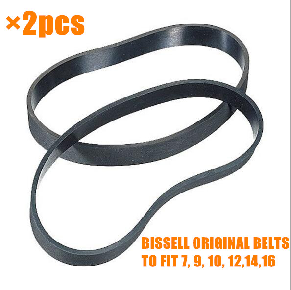 2pcs BISSELL ORIGINAL BELTS TO FIT 7, 9, 10, 12,14,16 VACUUMS