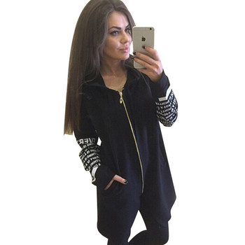 MVGIRLRU basic jacket Hoodies sweatshirts letter printed zipper irregular coats sportswear