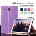 Для Samsung Galaxy Tab A7 T280 T285 Тонкий Складной Чехол чехол Tablet Стенд PU Кожаный Совершенное Надежную Защиту