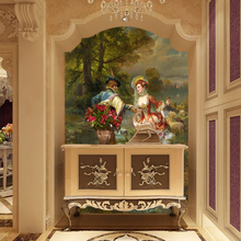 3D  Wallpaper European Style Classical Wallpapers Lover Oil Paintings