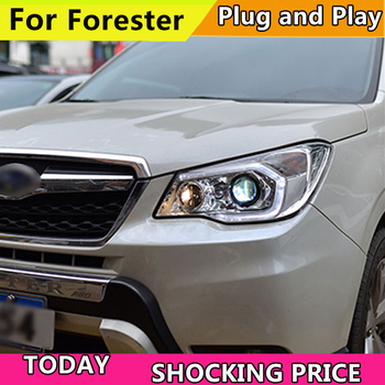 Car Styling Head Lamp for Subaru Forester Headlights 2013-2016 LED Headlight DRL H7 D2H Hid Option Angel Eye Bi Xenon Beam image