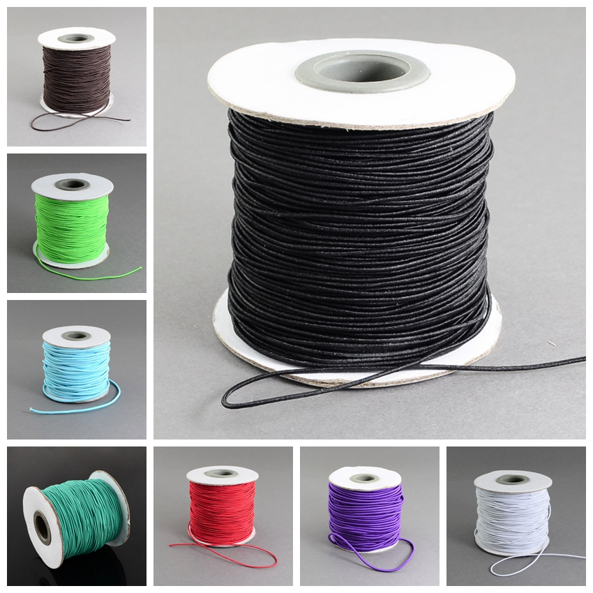 1mm; 100m/roll HOT Elastic Hair Jewelry Accessories Making Cord Nylon Rubber White Black Craft DIY Design Material String Strand