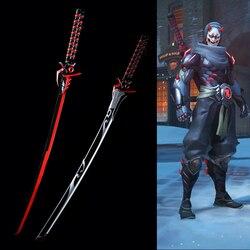 Accessoires de Cosplay pour Over Watch | Réplique lame de peau de Genji Oni en acier véritable fantaisie Katana, épée décorative sans tranchant
