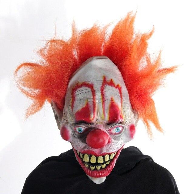 H   D In Lattice ridere Clown Maschera Con I Capelli per Adulti ... d96a0f4a1824