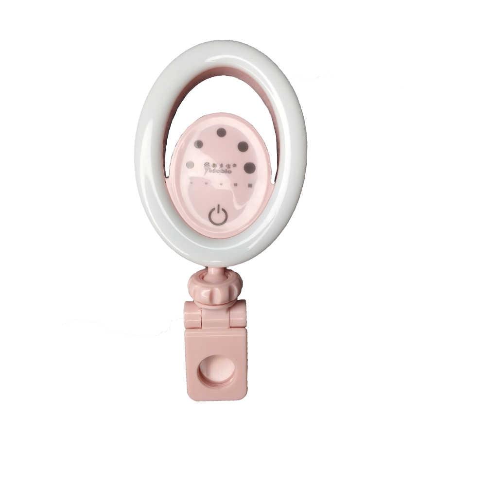 Yidoblo DS-06 LED Selfie halka ışık Geniş Açı Makro Lens Youtube Makyaj Güzellik Canlı Akış Dolgu ışık halkası Lamba iPhone
