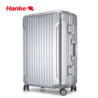 Hanke Aluminum Alloy Frame Luggage Trolley Case Men Women Suitcase Spinner Wheels Rolling Luggage PC Shell 20 24 28 Inch H9939