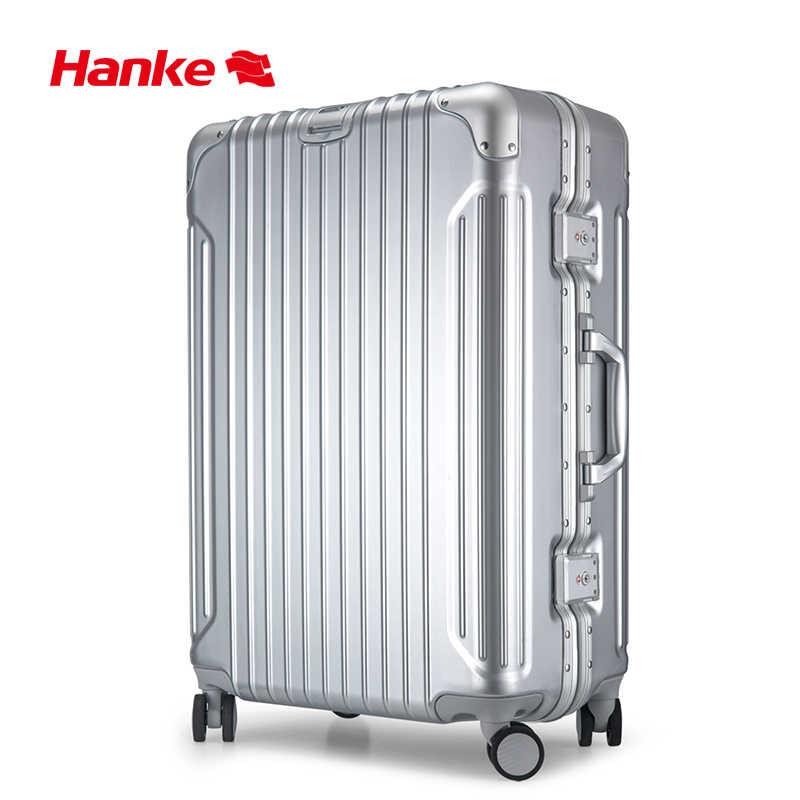 Hanke алюминиевый сплав рама багажная тележка чехол для мужчин и женщин чемодан Спиннер колеса прокатки для багажа компьютера оболочки 20 24 28 дюймов H9939