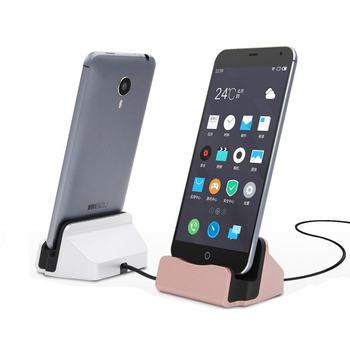 Universal Phone Stand Holder Micro USB Charging Dock Station Charge Charger for Samsung Galaxy S4 J5 Note 4 Oneplus HTC Android steel casing pipe