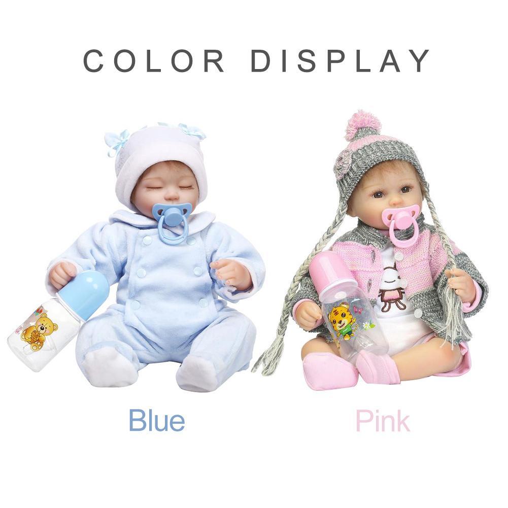 Fashion 40cm Vinyl Silicone Reborn Baby Doll Kids Gift Lifelike Children Accompany Toy Fashion 40cm Vinyl Silicone Reborn Baby Doll Kids Gift Lifelike Children Accompany Toy
