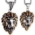 Colar de casal de aço inoxidável pingentes de leão W corrente de ouro presentes do dia dos namorados para ele ela os amantes de jóias de prata dropship GN06