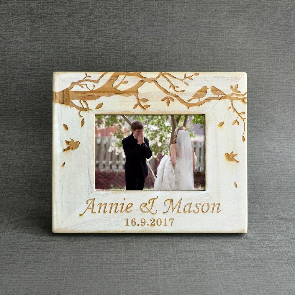 Foto Vintage Wedding Kustom Kayu Pernikahan Pasangan Gambar Frame Pribadi