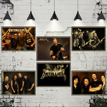 rock music metallica band retro Kraft independent avant-garde heavy metal rock poster bar student hostel retro poster(China)