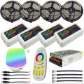 20m LED Strip Light IP20/IP65 Waterproof tape RGB/RGBW/RGBWW + Mi Light 2.4G RF Touch Remote + WiFi Box + 4pcs 4-Zone Controller
