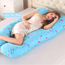 New 2019 Pillows Pregnancy Sleeping Support Pillow Side Sleepers Bedding Body Cotton Pillowcase U Shape Maternity Pregnant Women