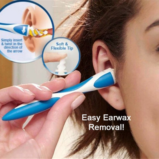 Rotating Smart Earwax Removal Soft Spiral Clean Tools
