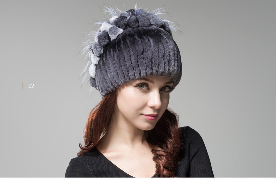 fur winter hats for women PCM003 (23)