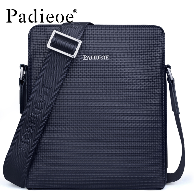 где купить Padieoe Brand Fashion Men Bag PVC Casual Male Crossbody Shoulder Messenger Bags дешево