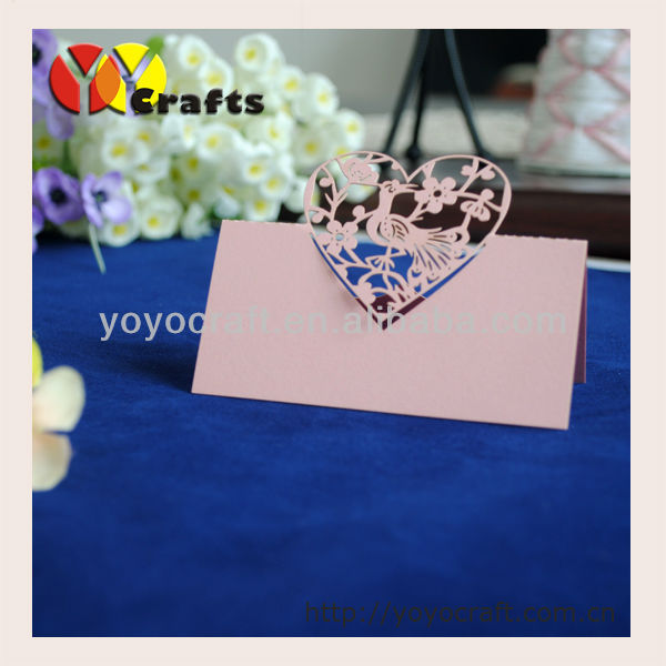 Good Quality Wedding Favor Laser Cutting Love Bird Pink Table Card And Place Holder In Party Diy Decorations From Home Garden On Aliexpress