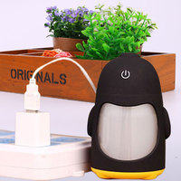 USB Portable Ultrasonic Penguin Cool Mist Air Humidifier Night Light Bedroom