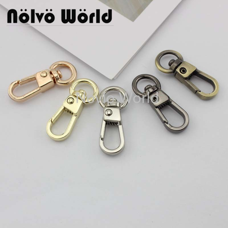 "10 pieces test, 31*8.3mm 3/8"" small size small quantity bags purse accessories, suitcase or handbag strap chain swivel clasps()"