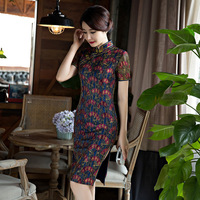 2018 Vintage Cheongsam Sexy Qipao Women Dress Oriental Style Dresses Chinese Traditional Gown China Clothing Store