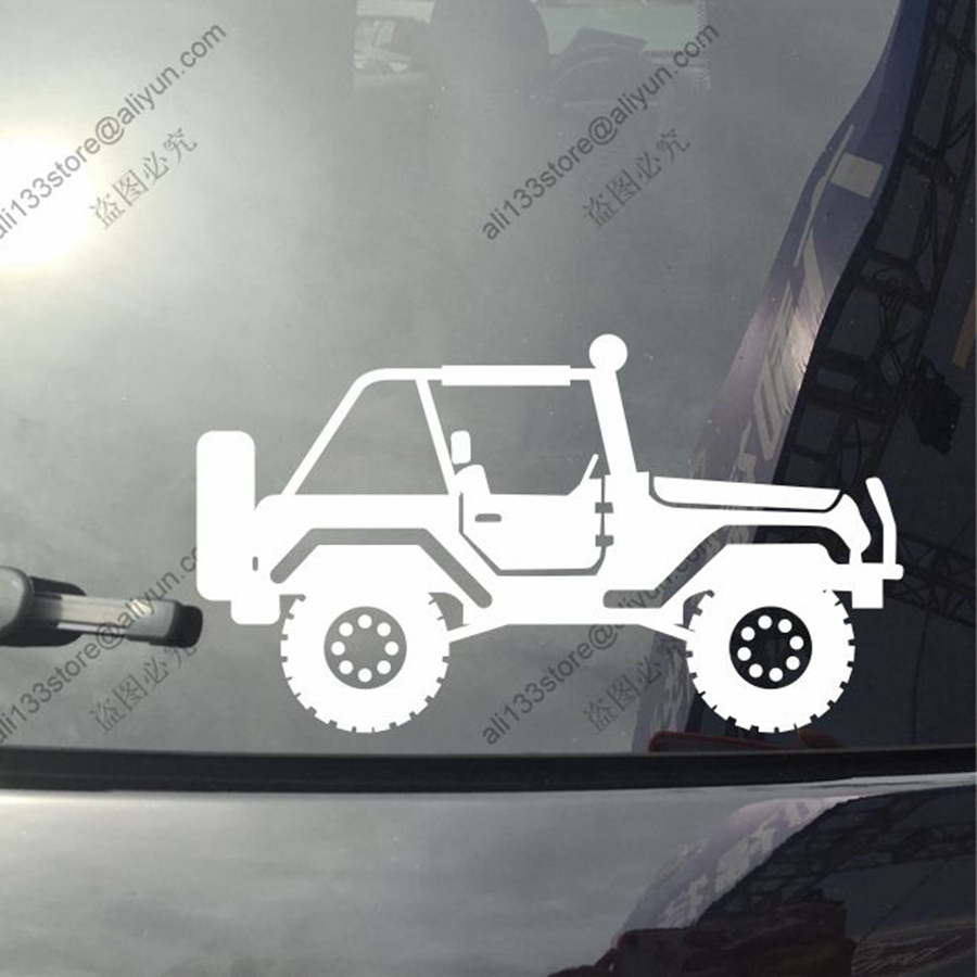 4x4 Off Road Car Vinyl Decal Sticker Fit For Jeep Wrangler Cherokee Outline Rubicon Willys Style5 You Choose Size And Color In Stickers From Automobiles