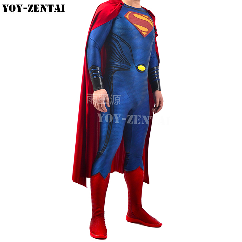 YOY-ZENTAI High Quality 3D Printing Embossed Superman Costume With Details