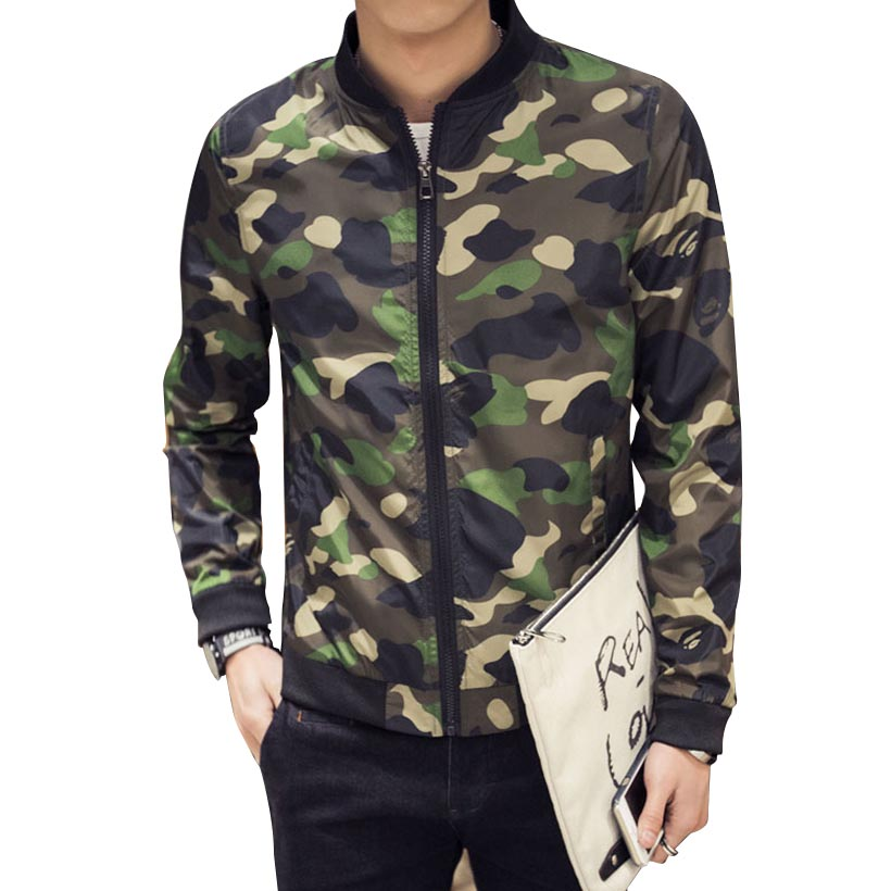 2016 Spring Autumn <font><b>Fashion</b></font> Brand Camouflage Jacket <font><b>Men</b></font> <font><b>Long</b></font> <font><b>Sleeve</b></font> <font><b>Stand</b></font> Callor Baseball Jacket Manteau Homme 4XL 5XL