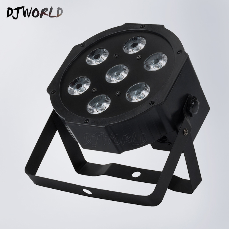 4pcs/lot Free Shipping LED Flat Par 7x18W RGBWA+UV 6IN1 DMX512 Stage Effect Lighting For Disco DJ And Party Fast Shipping top selling led par 7x18w rgbwa uv 6in1 stage profession dmx 512 effect lighting power in out for clubs theaters nightclub