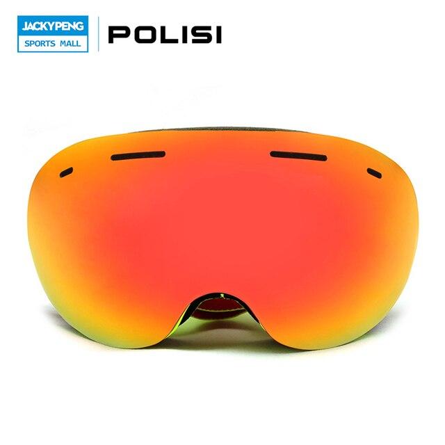 POLISI Winter Ski Snow Snowboard Goggles  Anti-Fog Lens Snowmobile Motocross Goggles Men Women Skiing Snowboarding Eyewear