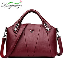 2019 Women Leather Handbags Vintage Soft Leather Female Crossbody Shoulder Bags Ladies Designer Brand Luxury Top Handle Bags