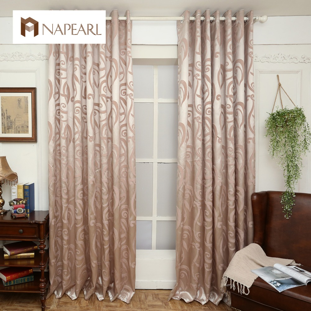 Semi blackout curtains blind jacquard modern design window for Balcony curtains