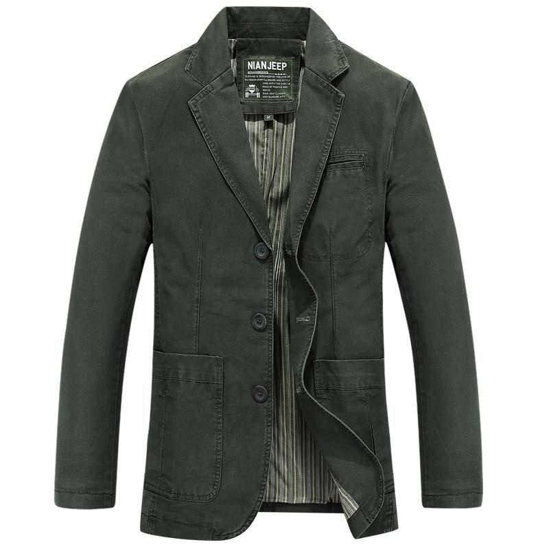 Fit army Grande Homme Taille Veste Green Coton Hommes Vêtements Blazer Slim Costumes Casual Marque Nouvelle Black 4xl Pour khaki Nian 0TwOgqg